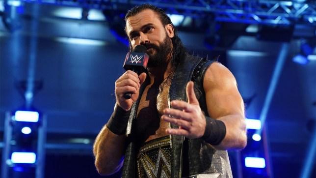 WWE champion Drew McIntyre on Raw in April 2020