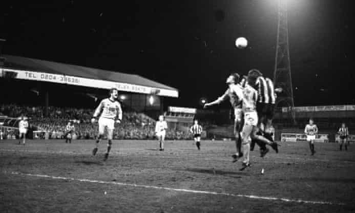 Action from the second replay at Burnden Park.