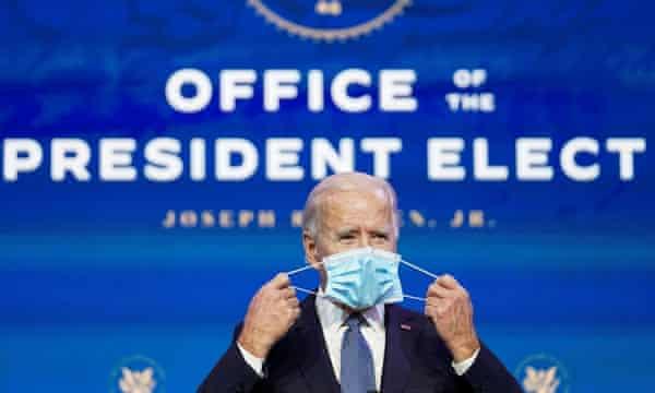 The US president-elect, Joe Biden.