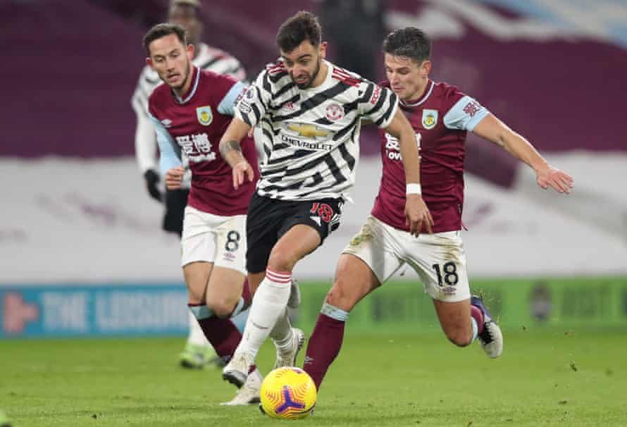 Bruno Fernandes's influence was apparent during the win at Burnley that took Manchester United top.
