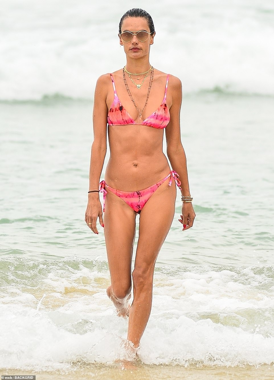 Top model:Up top, a triangle bikini offered a hint of cleavage