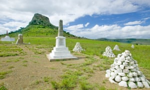 Soldiers' graves at Sandlwana hill, Isandlwana, which normally draws many visitors.