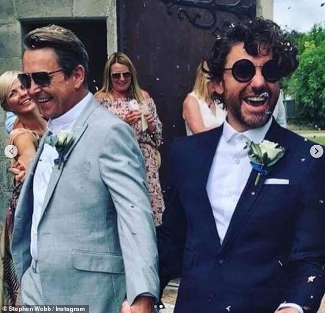 Smitten: The couple first met in a queue for parking permits at Hove Town Hall and they tied the knot at Chateau de Lisse in Lot-et-Garonne in France in July 2018