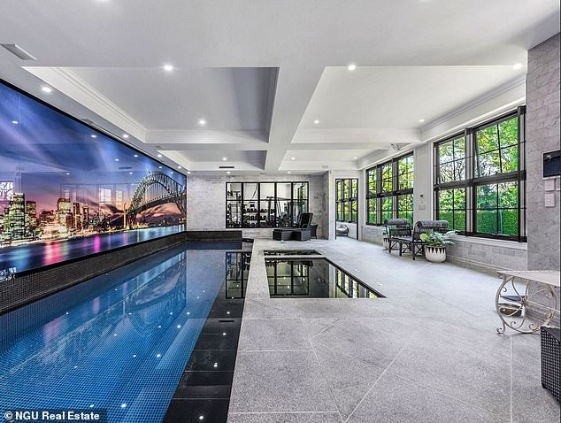 Luxury! It also has a gymnasium, six-person hot tub, sauna, recovery ice bath, billiards room with bar and an indoor tiled swimming pool, complete with a movie screen