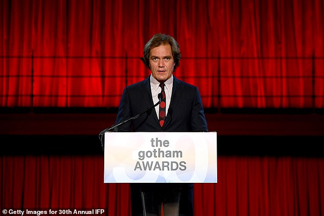 Shannon presents:Echo Boomers star Michael Shannon takes the stage to present the final award of the night, Best Feature, with all five nominees directed by women