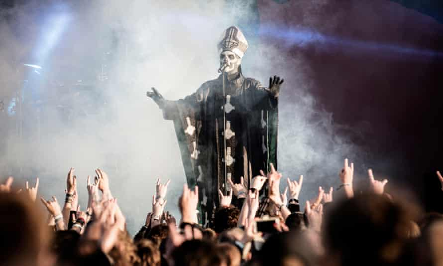 Swedish band Ghost performs at heavy metal festival Copenhell in 2013.