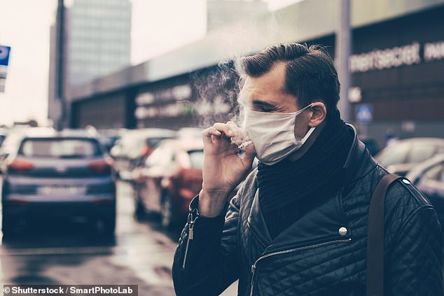 Researchers from the Cleveland Clinic looked at more than 7,000 coronavirus patients, including more than 6,000 never-smokers and the rest being current or former smokers (file image)