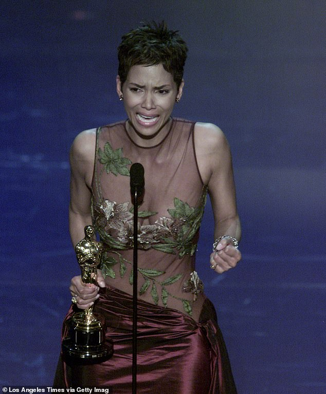 Equality: She admitted it's 'heartbreaking' that she's still the only woman of colour to win the Best Actress Oscar [pictured accepting the gong in 2002]