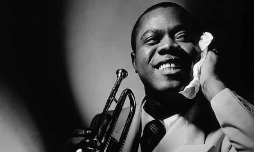 Vanity Fair 1935 jazz great Louis Armstrong with trumpet