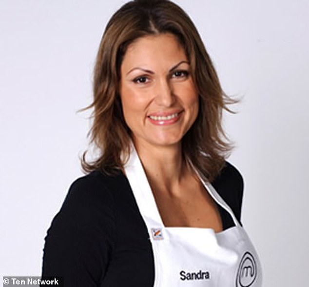 Who is she? Sandra (pictured) shot to fame after appearing on the first season of MasterChef Australia in 2009, where she spent 11 weeks and ended up being one of the 10 final contestants