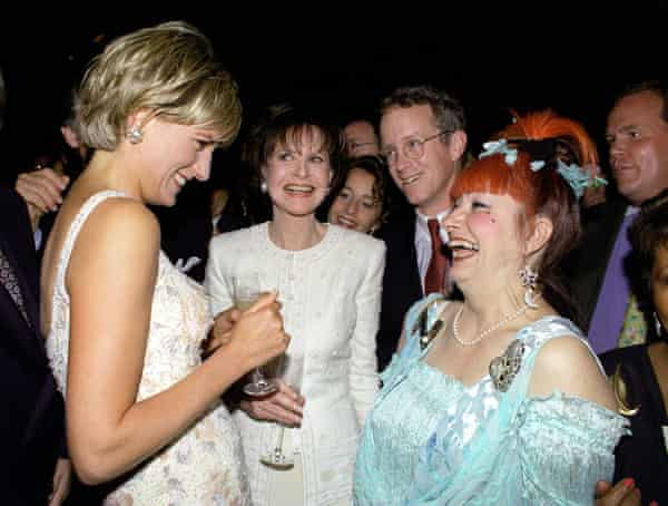 Rhodes with Princess Diana at Christie's, New York, in June 1997, two months before Diana died.