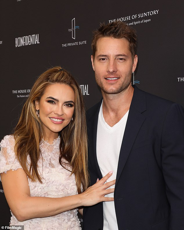 Sudden split:News of the pair's settlement comes over a year after Hartley famously filed for divorce from Chrishell, which came as a total surprise to the Selling Sunset star; Chrishell and Justin pictured in June of 2019