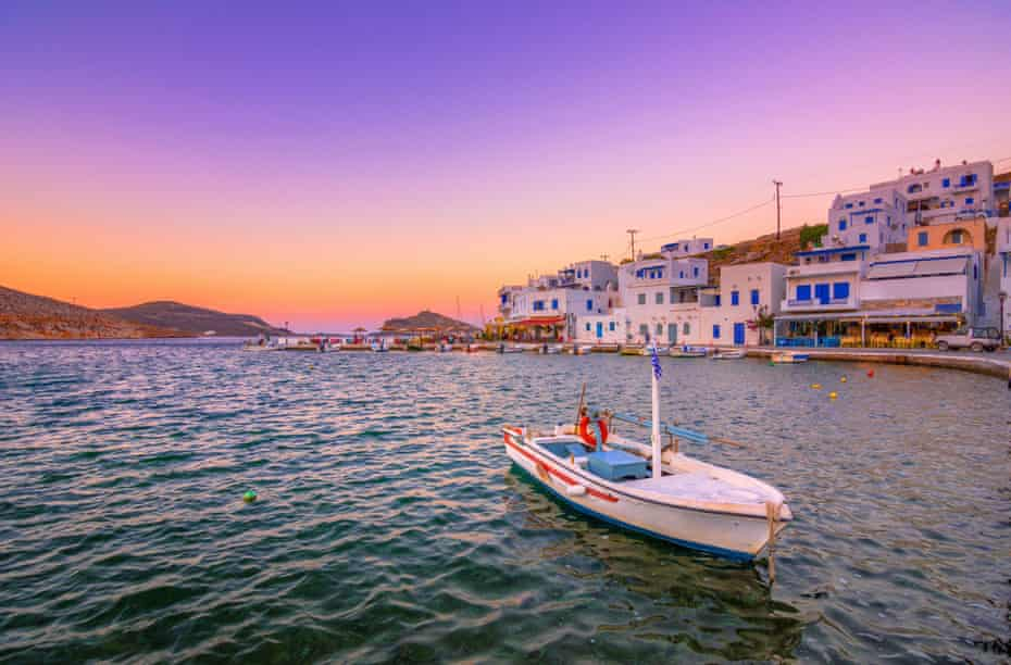The small old harbour of Panormos, Tinos island.
