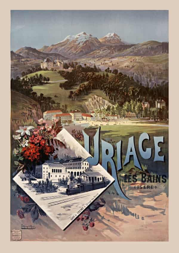 Vintage travel poster for Uriage-les-Bains, France