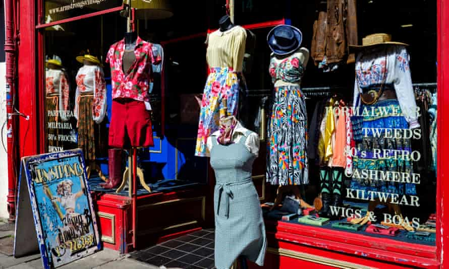Armstrong's vintage clothing store in Edinburgh, Scotland. The pandemic has resulted in a second-hand clothing boom.