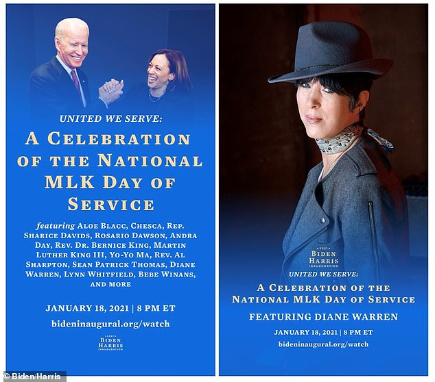 MLK celebration: Diane Warren will be seen with the Latin rising superstar Chesca performing the song Warren wrote, El Cambio-The Change/The Spanglish version in a video in honor of #MLKDAY for the Biden/Harris Inauguration. Directed by Adam Rifkin and produced by Leah Sydney, the song was used as a campaign anthem