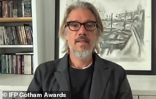 Director:The Bingham Ray Breakthrough Director Award was presented by writer-director Stephen Gaghan, which was won by Andrew Patterson for The Vast of Night, which was accepted by Sharp on his behalf