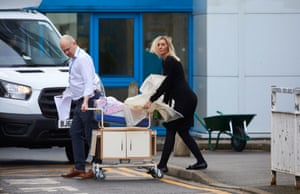 31 January – Preparations being made at Arrowe Park hospital at Upton, Wirral