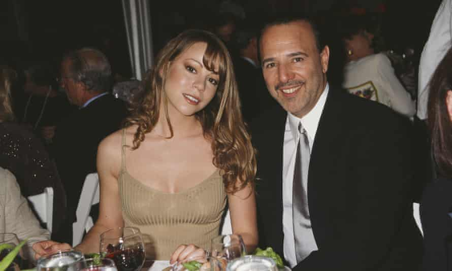 Mariah Carey and then-husband and label boss, Tommy Mottola.