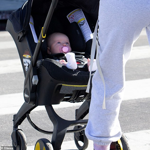 What a cutie! Jessica's baby girl looked content nestled in her stroller
