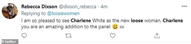 Praise:Fans certainly seemed to approve of the choice, as Twitter was flooded with gushing messages of praise for the new host and her 'intelligent' debate