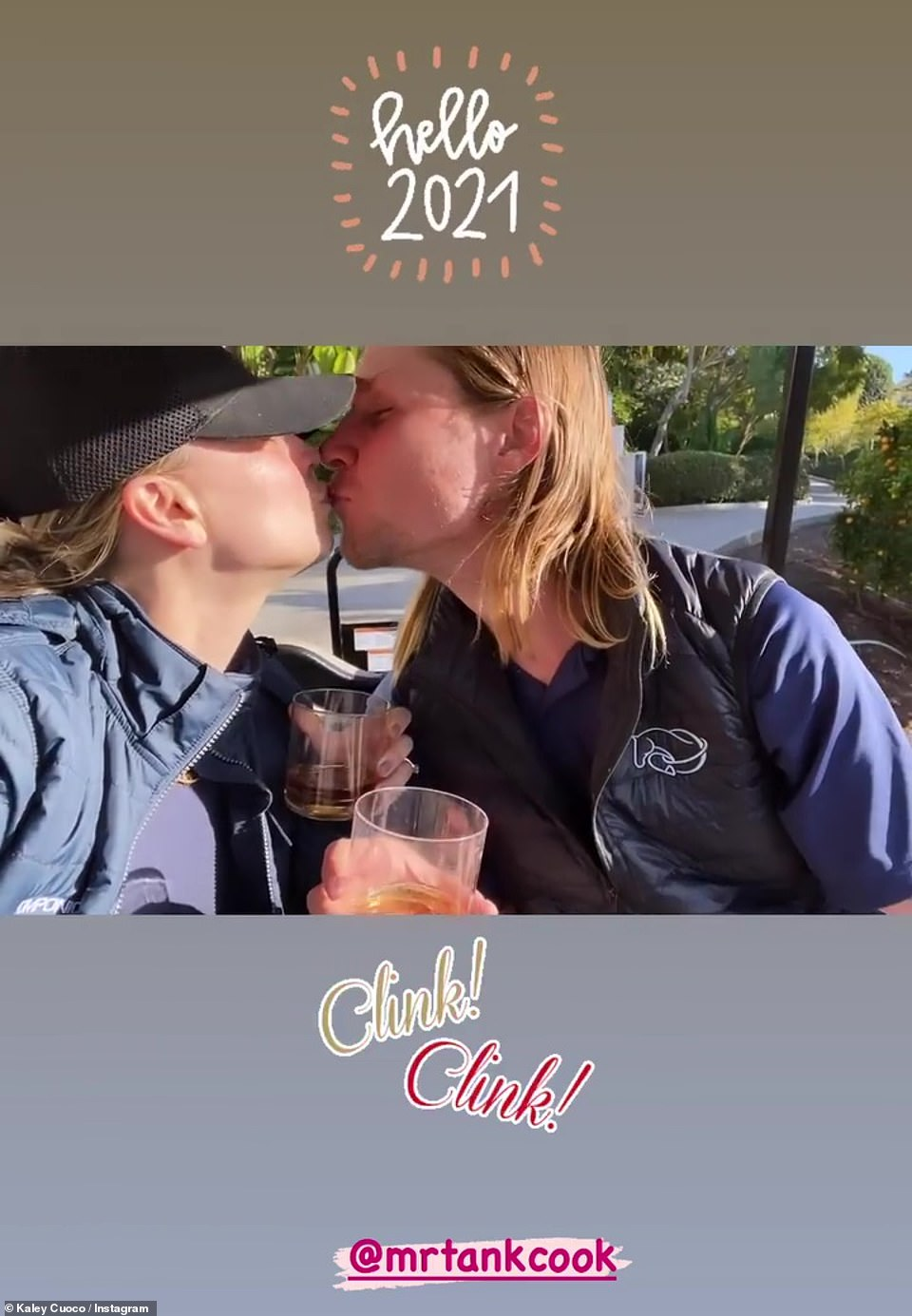 Sweet! Having celebrated his 30th last week,Kaley Cuoco had more reason to celebrate as she rang in the new year with her partner Karl Cook