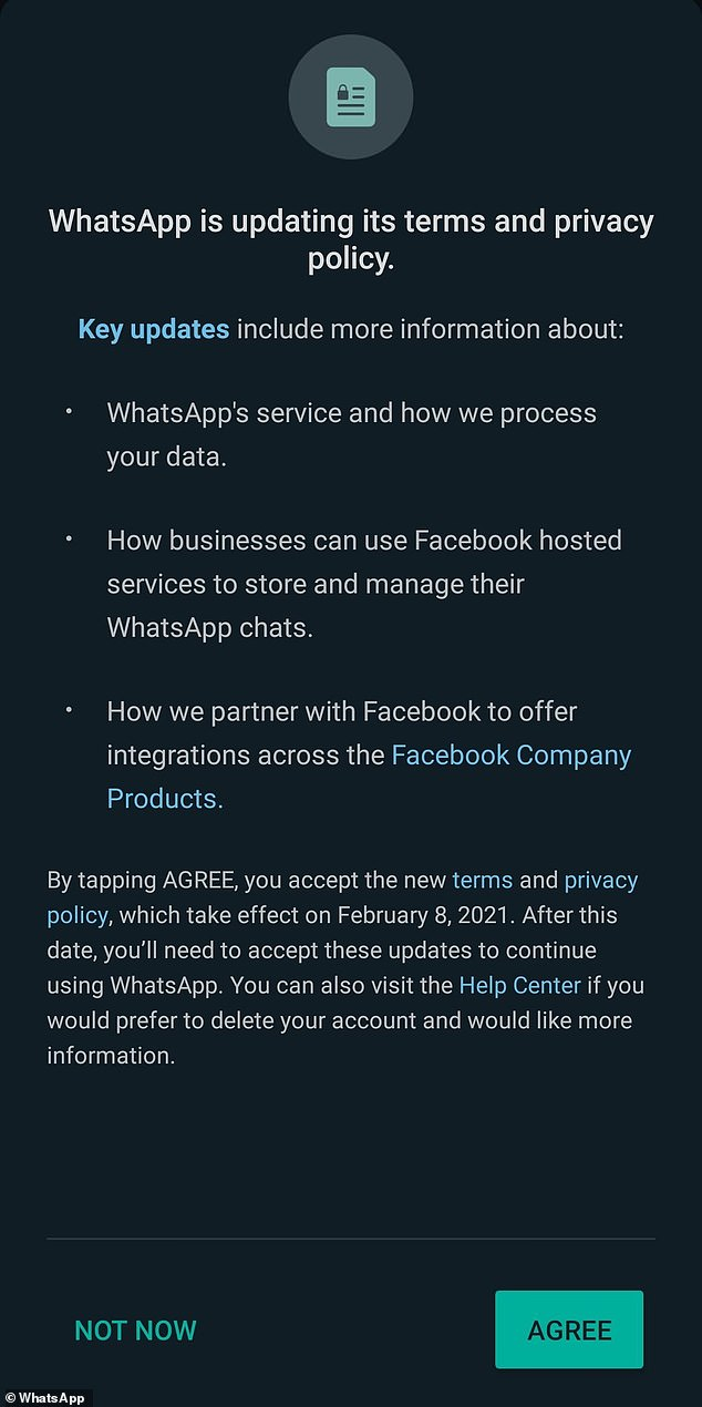 If you use WhatsApp you should have received a notification last week, explaining the changes