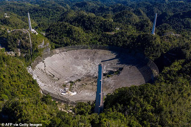 The Arecibo Observatory was decommissioned in November following safety concerns over two broken cables. Two weeks later, on December 1, Arecibo's main telescope collapsed