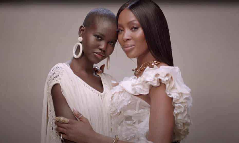 'We don't talk about fashion. We talk about life': with her 'fashion mum' Naomi Campbell.