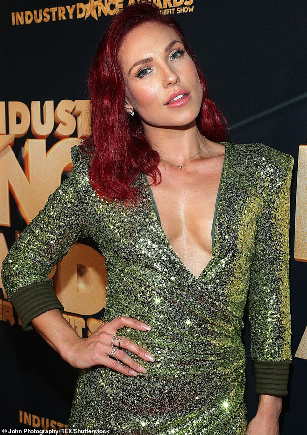 There she is:While appearing on Access Daily, Brian told Mario Lopez that he and Sharna share a business manager, who in fact introduced them. Sharna is pictured in 2019