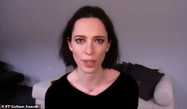 Rebecca:The Best Actor award was presented by Rebecca Hall, which was won by Riz Ahmed for The Sound of Metal