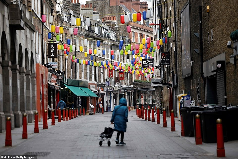 Georgia Gould, chairwoman of London Councils, said: 'One in 30 Londoners now has Covid. This is why public services across London are urging all Londoners to please stay at home except for absolutely essential shopping and exercise'