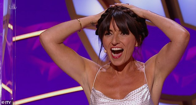 Elated:Davina McCall said she was thrilled that nobody on the panel guessed Bush Baby's identity, despite guesses including Jamie Oliver and Gino D'Campo