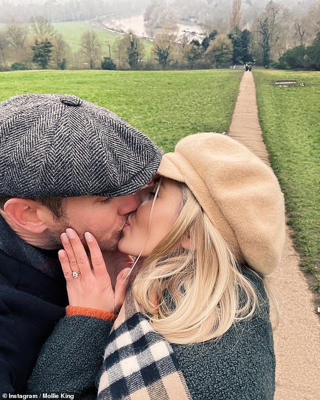 Wedding bells!Stuart and presenter Mollie, 33, announced their engagement on New Year's Day following a nearly eight-year, on-off relationship