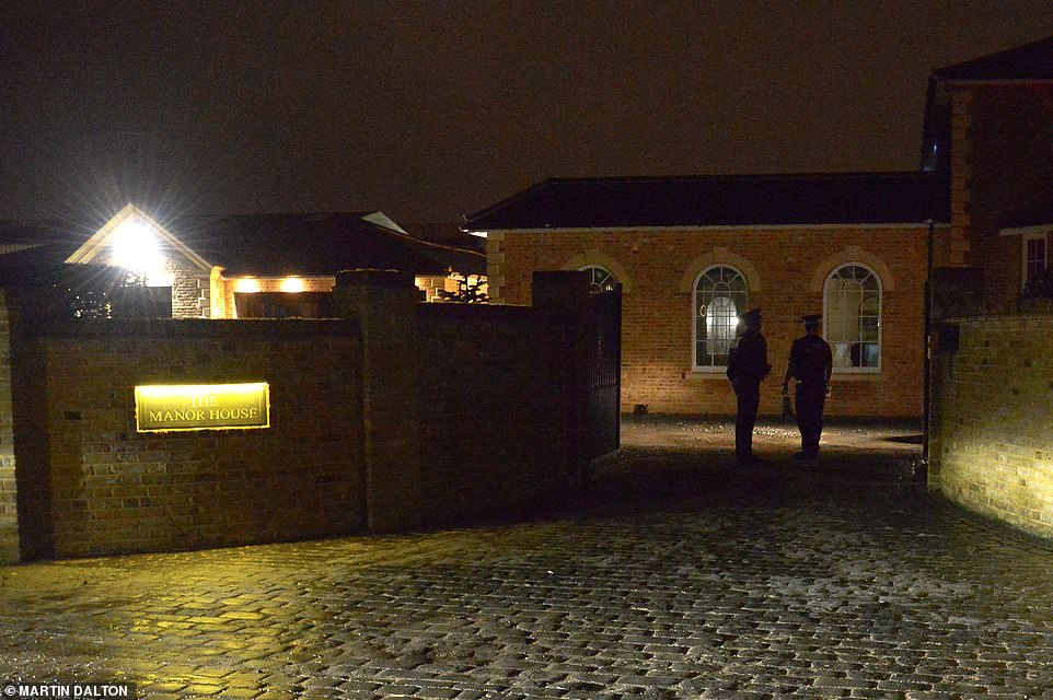 Police outside the home of Mick Norcross this evening, after the TOWIE star was found dead earlier this afternoon