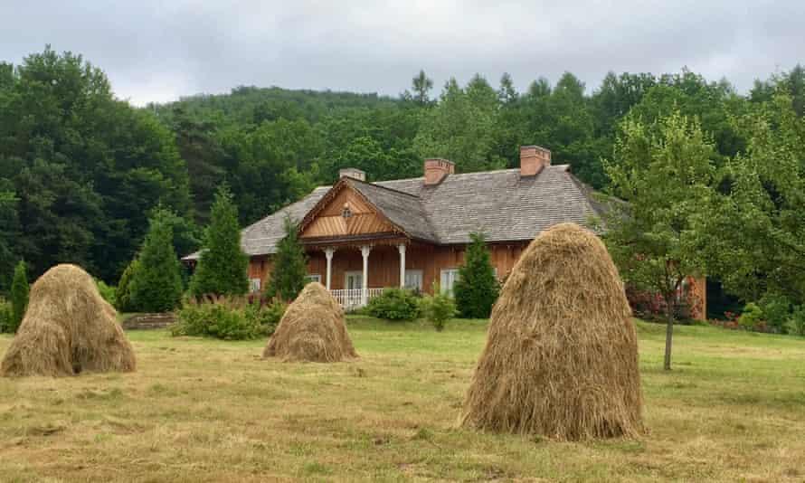 Harvest time on a farm near Lviv, Ukraine