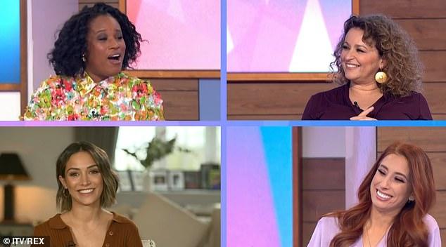 New colleagues! Charlene appeared alongsideNadia Sawalha, Frankie Bridge and Stacey Solomon on the show