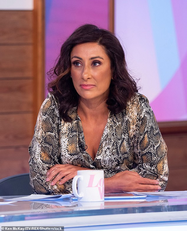 Time to move on:It was revealed earlier this month that Saira was leaving after five years on the panel, just two weeks after fellow panellist Andrea departed from the show