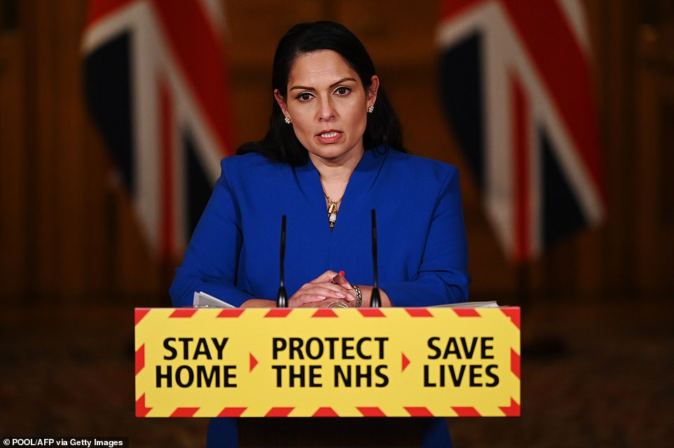 Priti Patel used this evening's TV conference, during which she was flanked by the chair of the National Police Chiefs' Council, Martin Hewitt, and NHS London's medical director, Dr Vin Diwakar, to plead with people to follow the rules