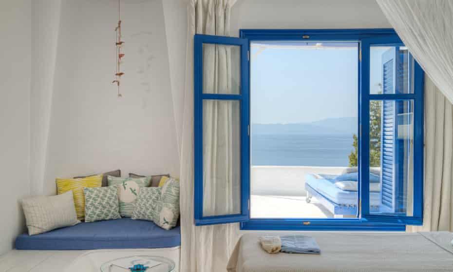Silver Island in the Aegean Sea