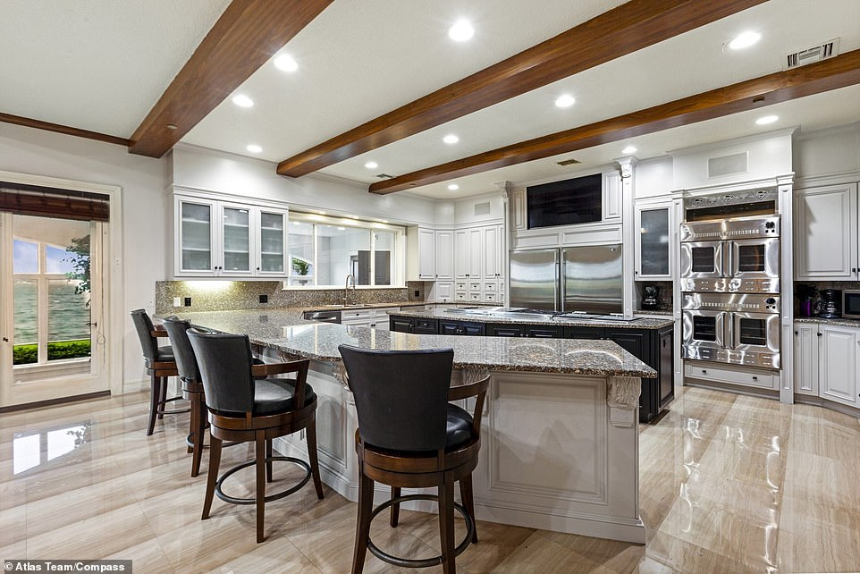 Gourmet meals: The home features a fully-stocked chef's kitchen with multiple ovens and ranges to prepare a feast