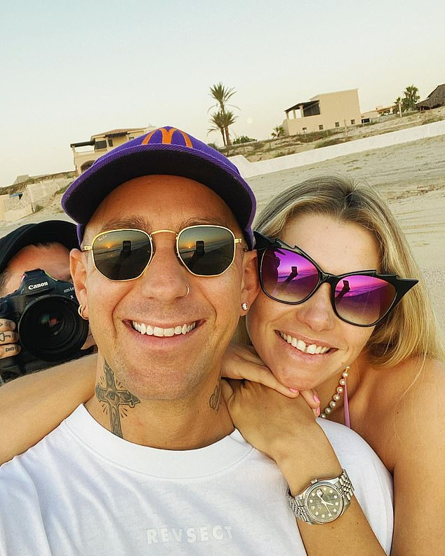 Happy days:The couple announced in September that they were expecting their first child together