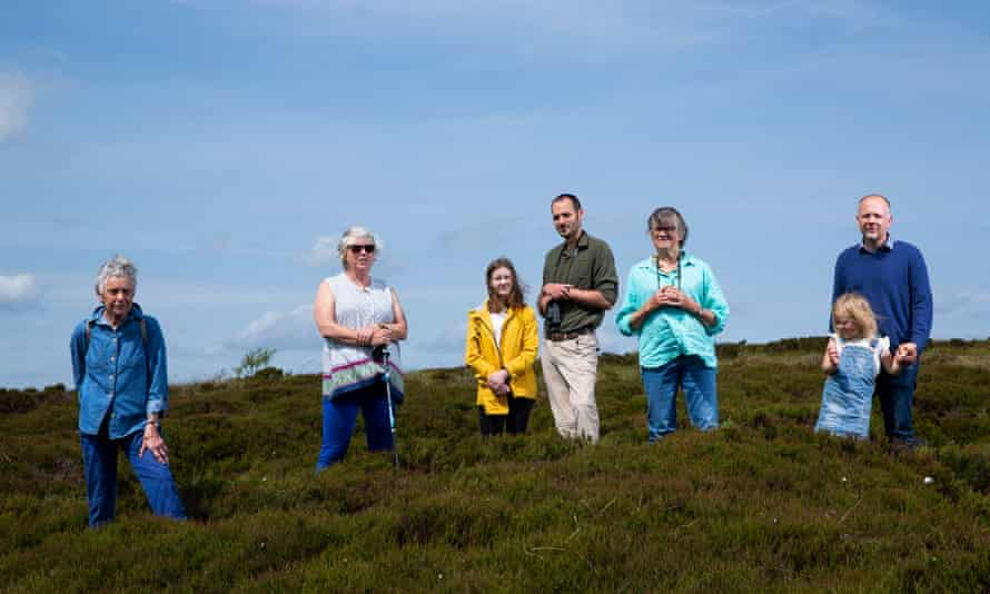 Members of the Langholm Initiative with local residents on Langholm Moor.