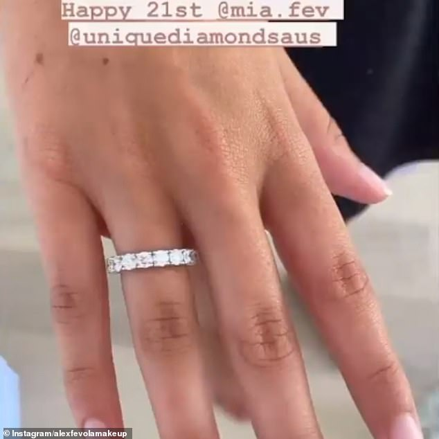 Lucky girl! The glimmering diamond ring, from Unique Diamonds, clearly took the cake