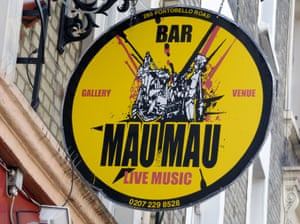Sign for the Mau Mau Bar