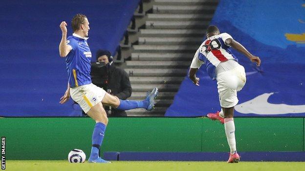 Christian Benteke scores for Crystal Palace