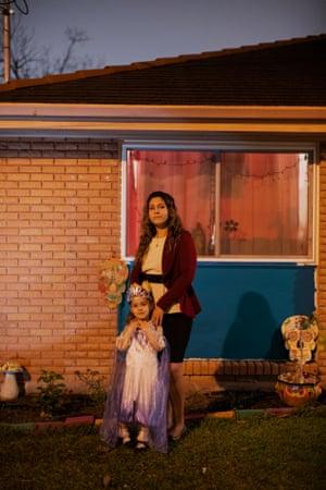 Caliana Munoz photographed at home in Gretna, Louisiana on February 10, 2021.