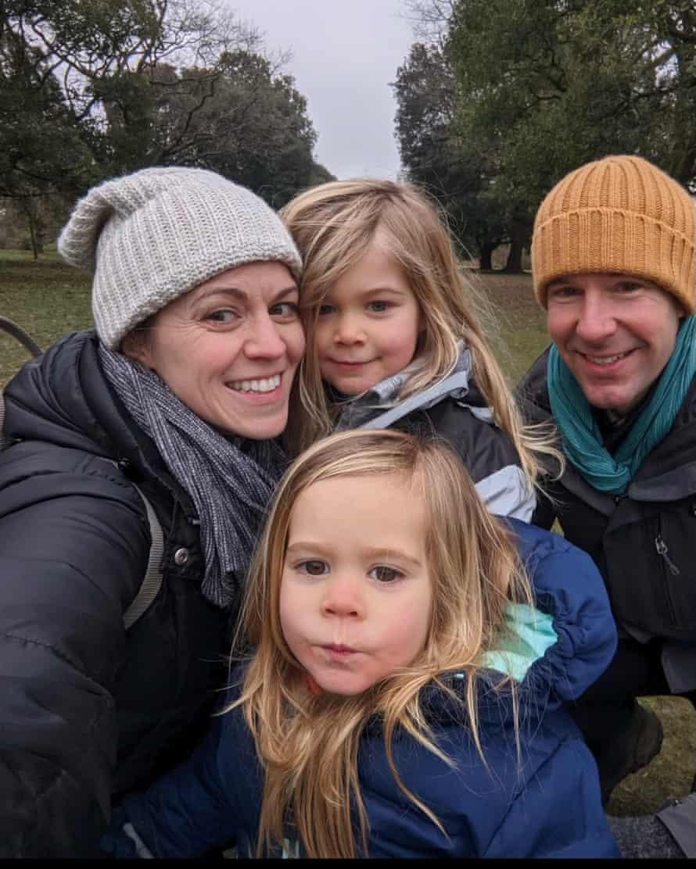 Jason Kedzuch and his family.