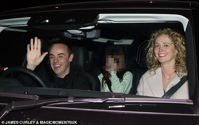 Happy couple: Ant McPartlin and Anne-Marie Corbett looked smitten as they departed the ITV studios after Saturday Night Takeaway