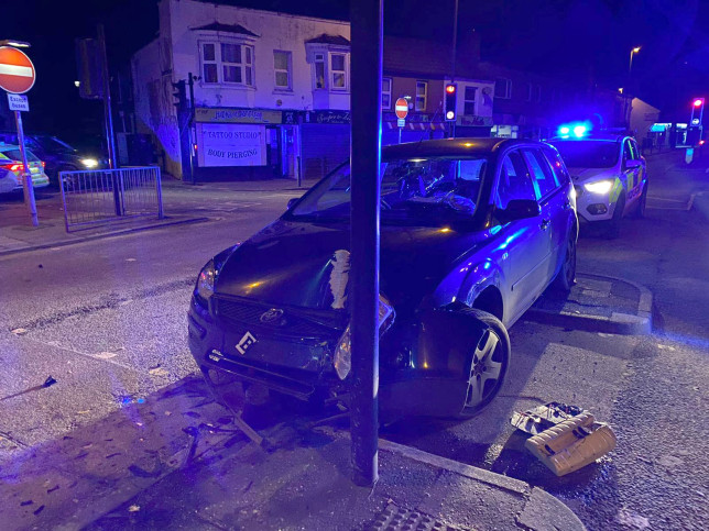 A 13-YEAR-OLD boy was caught by cops for crashing his dad???s car while allegedly drink-driving. The pint-sized lad smashed the Ford Escort into a lampost in Gosport, Hants. The annoyed youth then spat at an officer. TRIANGLE NEWS 0203 176 5581 // contact@trianglenews.co.uk By Andy Crick With pix A 13-YEAR-OLD boy was caught by cops for crashing his dad???s car while allegedly drink-driving. The pint-sized lad smashed the Ford Escort into a lampost. Police arrested the underage driver after he failed a roadside breath test. The annoyed youth then spat at an officer. Cops slammed him for putting him at risk during the Covid-19 pandemic. The boy - four years under the legal driving limit - was caught in Gosport, Hants in the early hours of this/yesterday (Mon) morning.